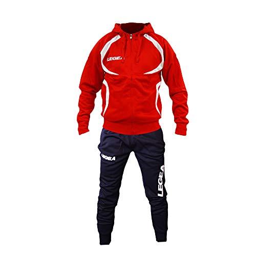 Rosso Tempo blu Perseo Fitness Libero Tunisia T110 Tg Colori E Vari Legea Allenamento Calcio Sport Uomo Tuta kXw8P0nO