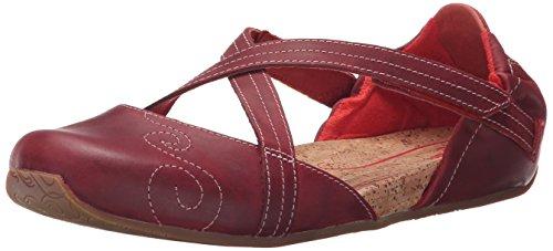 Women's Leather Flat Ballet Latitude Red Karma Stone Ahnu daqtwn4Zd