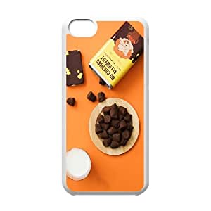 Chocolate Milk IPhone 5C Cases, Phone Case for Iphone 5c for Men Luxury Brand Okaycosama - White