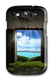 Awesome Fantasy Door Flip Case With Fashion Design For Galaxy S3