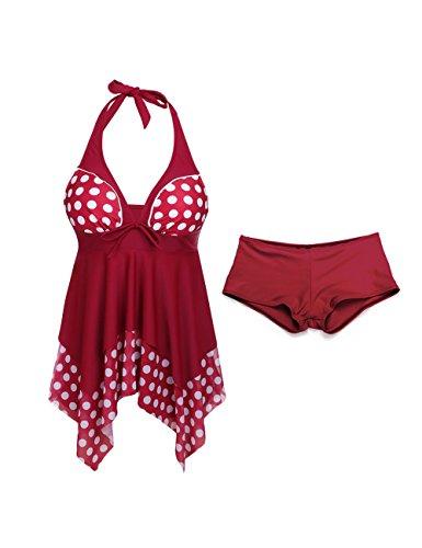Push Bikini Bagno Sexy Rosso Up Beachwear Costume da Donna Pezzi Imbottito Mare Set FeelinGirl Bikini Costumi Due SqPffW
