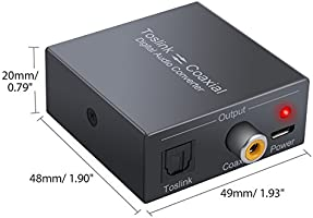 LiNKFOR 192 KHz DAC Conversor Switch bidireccional Toslink a ...