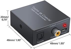 LiNKFOR 192 KHz DAC Conversor Switch bidireccional Toslink a ...