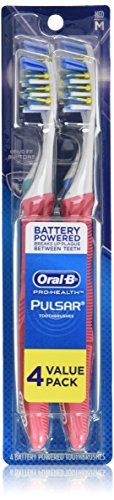 Oral-B Pulsar Medium Toothbrush, 4 Count