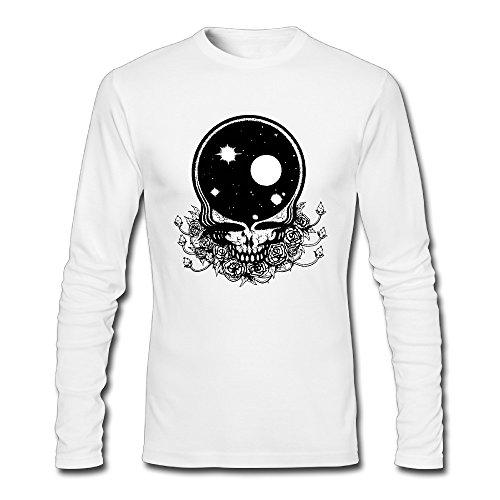 Long Sleeve Men Grateful Dead Logo T-shirts Graphic Tees Long Sleeved - Heavyweight T-shirt Grateful Dead