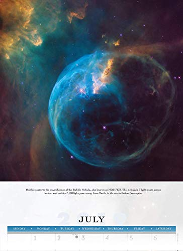 "Goldistock -""Hubble Space Telescope"" Eco-Friendly 2019 Large Wall Calendar - 12"" x 24"" (Open) - Thick & Sturdy Paper - Expand Your World & Your Mind"