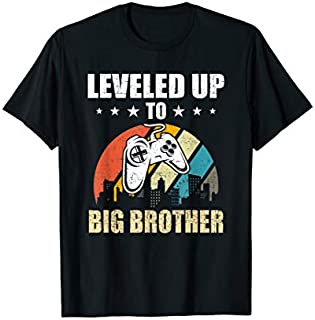 [Featured] Leveled up to Big Brother Funny Video Gamer Gaming Gift in ALL styles | Size S - 5XL