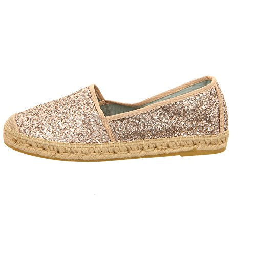 Rose femme Vidorreta Chaussures pour de Doré 00700ggptglitter lacets à ville OOB8qw0