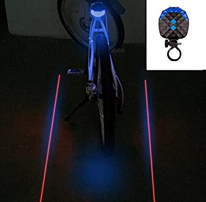 Bike Tail Flashing Lamp 2 Laser Rear Cycling Safety Bicycle Light 5 LED Bicycle
