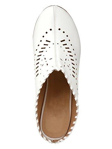 Liva Loop Damen Keilsabot mit Sommerlicher Perforation Weiß
