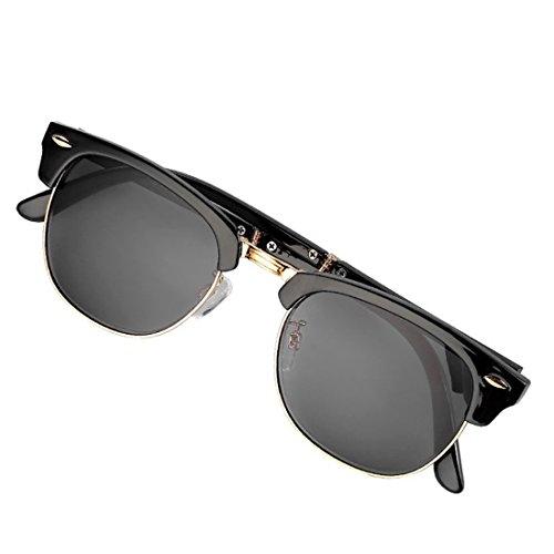 de sol negro Gafas lectura Huicai plegables de Moda sol Gafas neutrales de 7wqYS