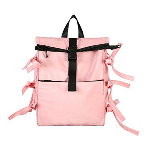 ChangNing - Bolso mochila  de algodón para mujer Rosa