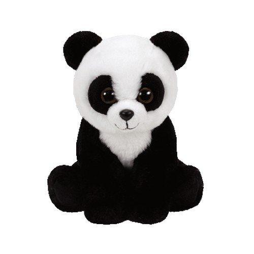 Ty Beanie Babies 41204 Panda Cuddly Toy-Baboo, 15cm