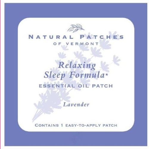 Natural Patches Of Vermont Lavender Sleep Comfort Essential Oil Body Patches, Single Patch Pouch Aromatherapy Patches