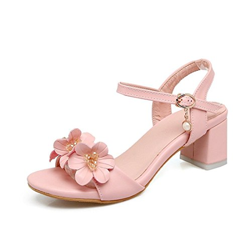 de con Sandalias Crudo con Zapatos Dulce Alto Mujer Astilleros Verano Pulsera Tacón Sandalias Flores Los Captura para ranurada Pink Mujer Grande Sandalia qg8x6wRn4