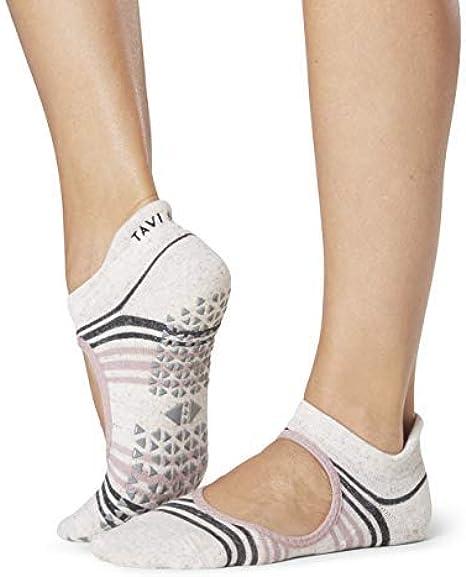 Tavi Noir Savvy Grip Sole Socks Low Rise Yoga Pilates Barre Lavender