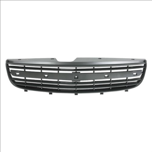 CarPartsDepot, Front Matte Grey Finish w/Material Black Frame Body Grille Grill Replacement No Emblem, 400-15466 GM1200449 21992586 ()