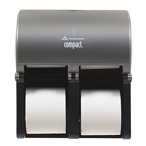 (Georgia-Pacific Compact Quad 56746 Stainless Finish Quad Vertical Four Roll Coreless Tissue Dispenser)