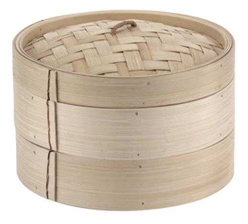Paderno World Cuisine 9-7/8-Inch Bamboo Steamer Set