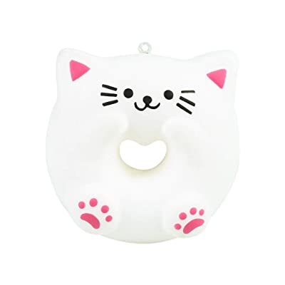 Xuways Donut Squishy Toys Party Favors for Kids, Cat Style Simulation Donut Doll Kawaii Sweet Scented Squishies Slow Rising Kids Toys , Toy for Autism, ADHD and Stress Relief: Toys & Games