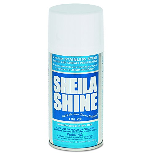 Sheila Shine SSCA10 Low Voc Stainless Steel Cleaner & Polish, 10 oz Can (Case of 12)