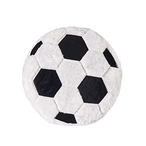 Heitaisi Innovative Football Plush Cushions Pillow, Soccer Pillows Fluffy Stuffed Soft Durable Sports Theme Kids Room Decoration Sofa Decor ()