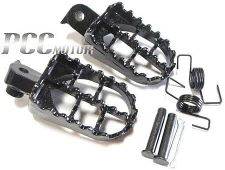 Stoneder Piquets de Repose-pieds Repose-pieds en aluminium Noir pour moteur Pit Dirt bike Moto Xr50r CRF50/CRF70/Crf80/Crf100/F Pw50/Pw80/Tw200