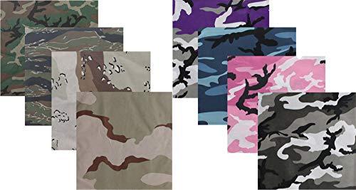 Camouflage Jumbo Bandanas Cotton Military Headwraps 27