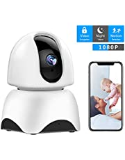 1080P Wireless IP Camera, 360 Home WiFi Security Camera Indoor Surveillance Camera System Panorama View for Pet/Baby Monitor Remote Viewer Nanny Cam with Pan/Tilt, Two-Way Audio & Night Vision