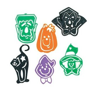 Halloween Character Stencil Bookmarks (144 Pcs) Plastic. 2 1/2
