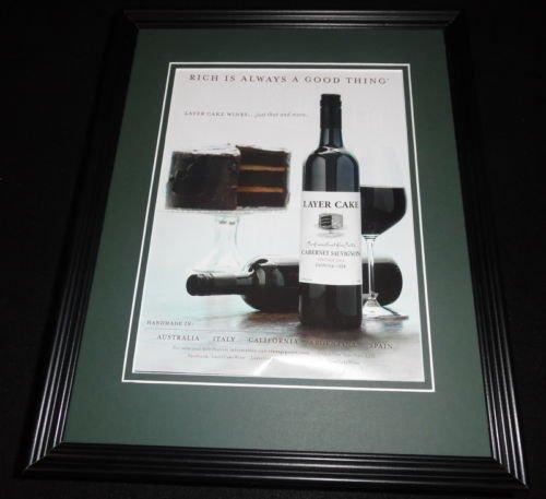 2015 Layer Cake Wine 11x14 Framed ORIGINAL Advertisement