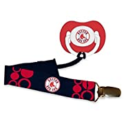 MLB Boston Red Sox Baby Fanatic Pacifier with Clip