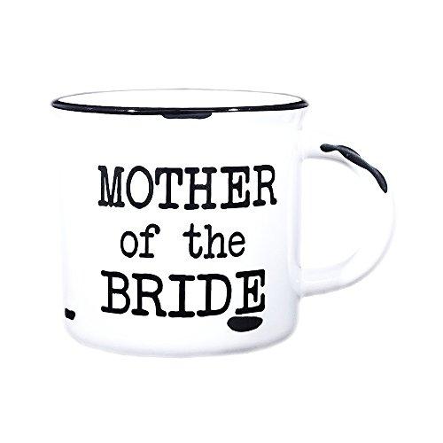 Mother of Bride Mug - 15 oz Campfire Mug (Typewriter font, White) ()