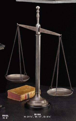 """The Justice Scale"" Bronze 21.5"" X 17""l X 5.5w"