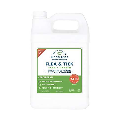 Wondercide Natural Flea and Tick Yard Garden Spray | Kill, Control, Prevent Fleas, Ticks, Mosquitoes & Insects - Natural Concentrate Safe Around Kids, Pets, Plants - 1 gal