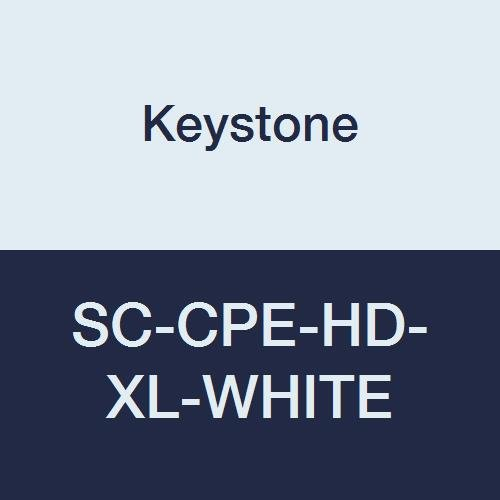 Keystone SC-CPE-HD-XL-WHITE Keytone Heavy Cross Linked Polyethylene Shoe Cover, Water Resistant, White (Pack of 300)