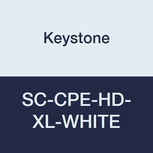 Keystone SC-CPE-HD-XL-WHITE Keytone Heavy Cross Linked Polyethylene Shoe Cover, Water Resistant, White (Pack of 300) by Keystone
