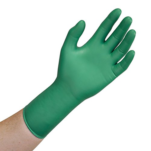 Microflex CHEM3 93-260RP Nitrile and Neoprene Gloves - Disposable, Chemical Resistant, Size X Large (Pack of -