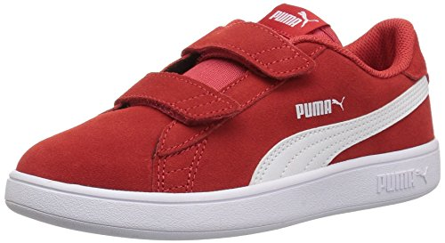 PUMA Baby Smash v2 SD Velcro Kids Sneaker, High Risk Red White, 10 M US Toddler (Shoes Puma Red)