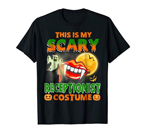 Receptionist Halloween Scary Receptionist Costume Job TShirt -