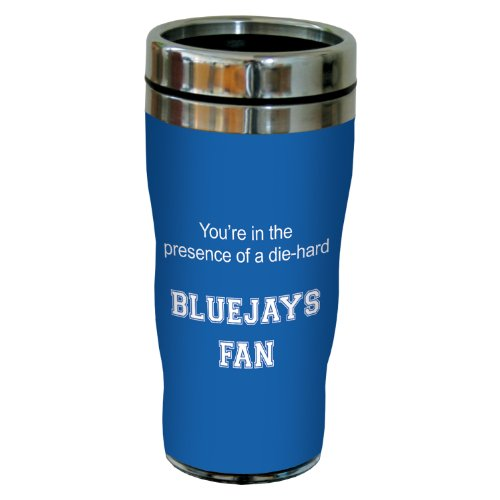 Tree-Free Greetings sg24681 Bluejays College Basketball Sip 'N Go Stainless Steel Lined Travel Tumbler, 16 Ounce