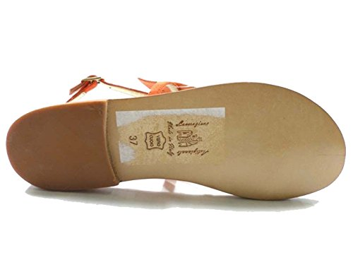 EDDY DANIELE 37 EU Sandalias Mujer Naranja Gamuza / Cristales Swarovski AX795/AX796