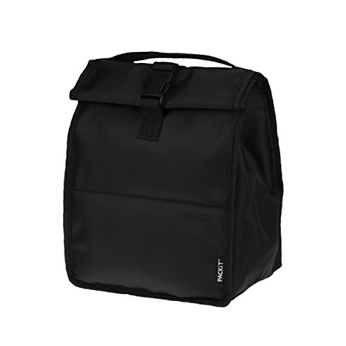 PackIt Freezable Rolltop Lunch Bag, Black by PackIt