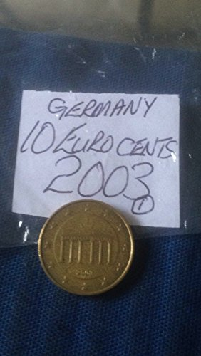 The Great British Coin Hunt German Ten Euro Cent 10c Coins Germany European (2003 10 Eurocent (10 Cent Euro Coin)