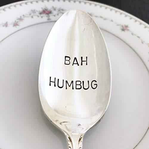 Bah Humbug: Vintage serving spoon, hand stamped, various ()