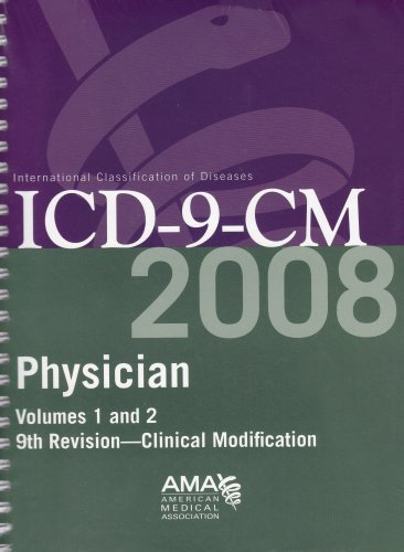 Read Online By American Medical Association Physician ICD-9-CM 2008, Volumes 1 & 2 (9th) [Spiral-bound] pdf epub