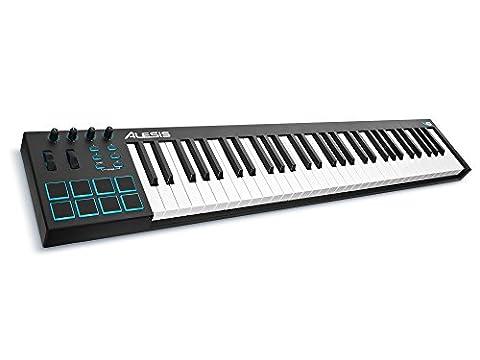 Alesis V61 | 61-Key USB MIDI Keyboard & Drum Pad Controller (8 Pads / 4 Knobs / 4 Buttons) (Alesis Usb Midi)