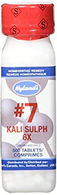 Hyland's Cell Salts #7 Kali Sulphuricum Tablets, Natural Homeopathic Relief of Colds and Skin Eruptions