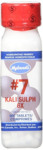 Hyland's Cell Salts #7 Kali Sulphuricum 6X Tablets, Natural Homeopathic Relief of Colds and Skin Eruptions, 500 Count