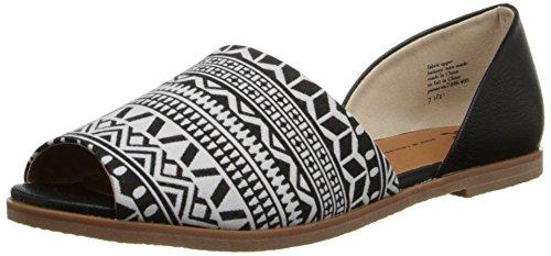 Bc Footwear Flats (BC Footwear Women's Bobtail Ballet Flat, Black/White/Black, 6 M US)